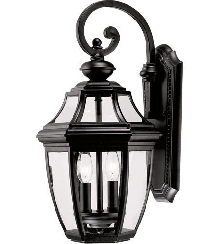 Savoy House Endorado 2 Light Outdoor Wall Lantern in Black 5-492-BK