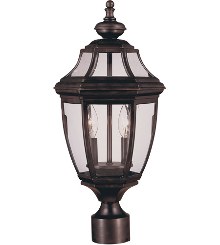 Savoy House 5-497-13 Endorado 2 Light 17 inch English Bronze Post Lantern photo