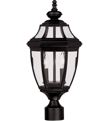 Savoy House Endorado 2 Light Outdoor Post Lantern in Black 5-497-BK
