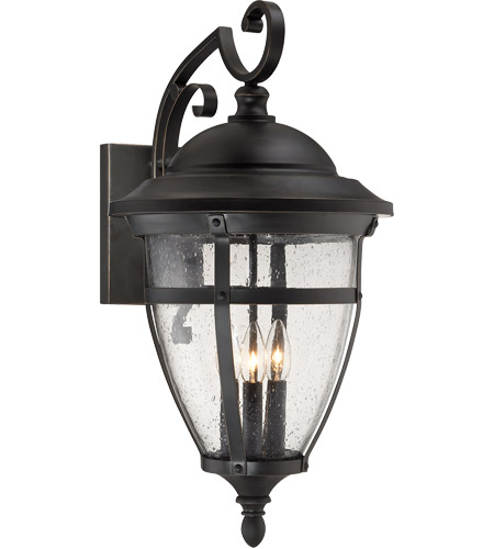 Savoy House Dillon 3 Light Outdoor Wall Lantern in English Bronze with Gold 5-5052-3-213