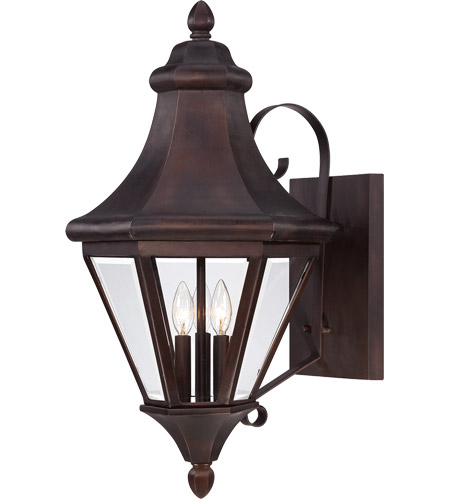 Wall Lamp Malta : Savoy House Malta 3 Light Outdoor Wall Lantern in English Bronze 5-5611-13