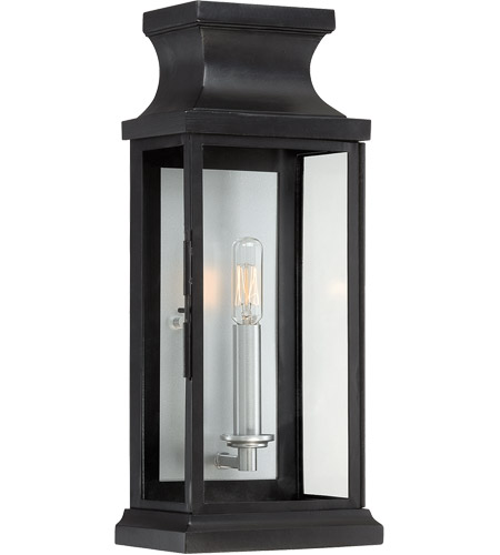 Savoy House 5-5910-BK Brooke 1 Light 17 inch Black Outdoor Wall Lantern in Clear photo