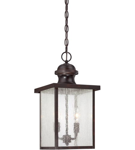 Savoy House 5-603-13 Newberry 2 Light 9 inch English Bronze Outdoor Hanging Lantern in Seeded photo