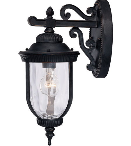 Savoy House 5-60320-186 Castlemain 1 Light 16 inch Black with Gold Outdoor Wall Lantern photo