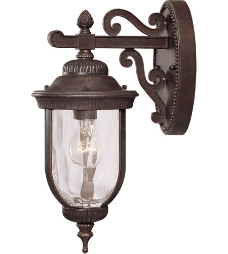 Savoy House Castlemain 1 Light Outdoor Wall Lantern in Walnut Patina 5-60320-40