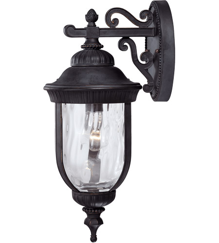 Savoy House Castlemain 1 Light Outdoor Wall Lantern in Black w/ Gold 5-60321-186 photo