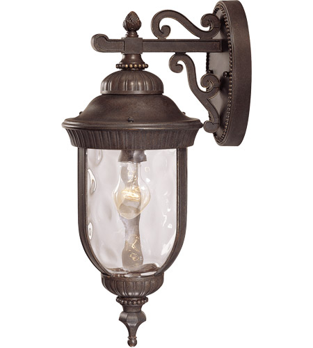 Savoy House Castlemain 1 Light Outdoor Wall Lantern in Walnut Patina 5-60321-40