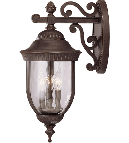 Savoy House Castlemain 3 Light Outdoor Wall Lantern in Walnut Patina 5-60323-40