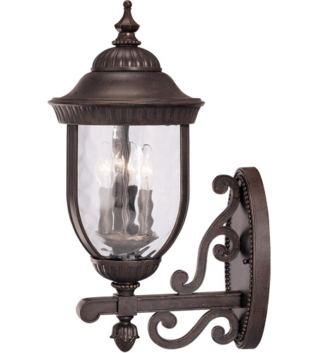 Savoy House Castlemain 3 Light Outdoor Wall Lantern in Walnut Patina 5-60324-40 photo