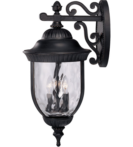 Savoy House Castlemain 4 Light Outdoor Wall Lantern in Black w/ Gold 5-60325-186 photo