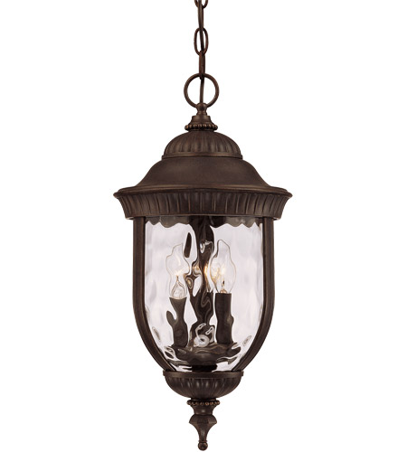 Savoy House Castlemain 3 Light Outdoor Hanging Lantern in Walnut Patina 5-60328-40