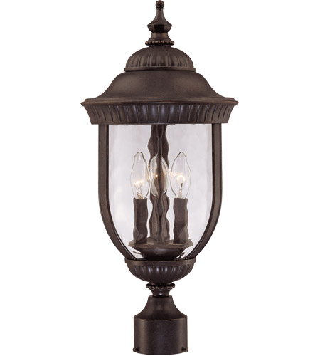 Savoy House 5-60329-40 Castlemain 3 Light 22 inch Walnut Patina Outdoor Post Lantern photo