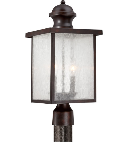 Savoy House 5-604-13 Newberry 2 Light 19 inch English Bronze Post Lantern in Seeded photo