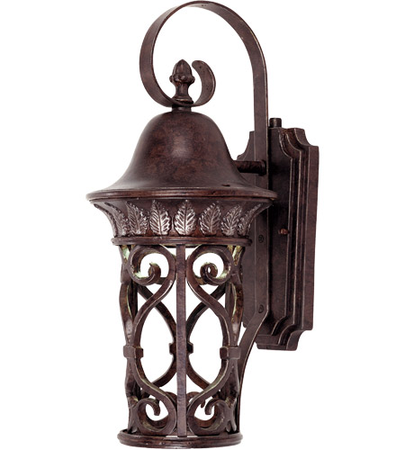 Savoy House Aficianado 1 Light Dark Sky Outdoor Wall Lantern in New Tortoise Shell w/Silver 5-6050-DS-8 photo