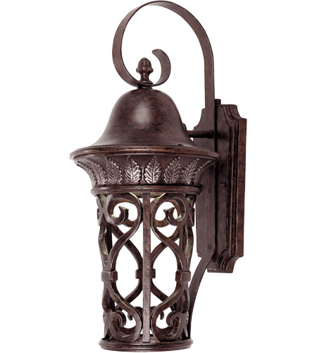 Savoy House Aficianado 1 Light Dark Sky Outdoor Wall Lantern in New Tortoise Shell w/Silver 5-6051-DS-8 photo