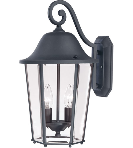 Savoy House Truscott 2 Light Outdoor Wall Lantern in Black 5-6212-BK