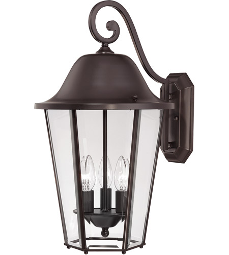 Savoy House Truscott 3 Light Outdoor Wall Lantern in English Bronze 5-6213-13 photo