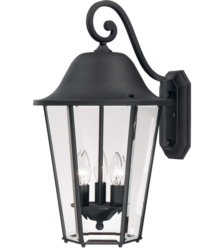 Savoy House Truscott 3 Light Outdoor Wall Lantern in Black 5-6213-BK photo