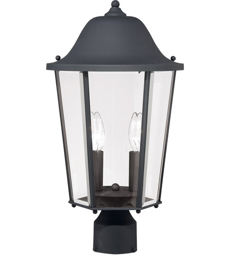 Savoy House Truscott 2 Light Outdoor Post Lantern in Black 5-6214-BK