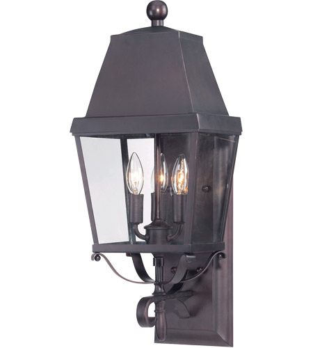Savoy House Nevington 3 Light Outdoor Wall Lantern in English Bronze 5-6300-13 photo