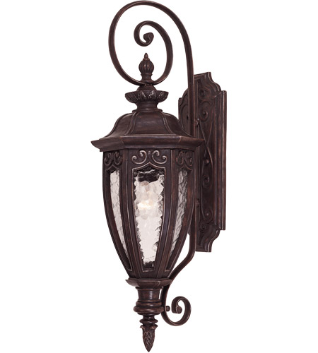 Savoy House Dehart 1 Light Outdoor Wall Lantern in Bark and Gold 5-6522-52 photo