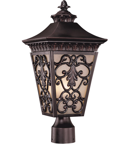 Savoy House Bientina 3 Light Outdoor Post Lantern in Slate 5-7133-25 photo
