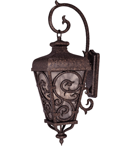 Savoy House Spaniard 3 Light Outdoor Wall Lantern in New Tortoise Shell w/ Gold 5-7140-56 photo