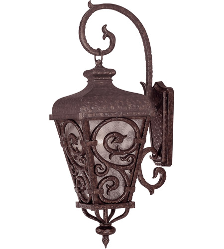 Savoy House Spaniard 1 Light Outdoor Wall Lantern in New Tortoise Shell w/ Gold 5-7147-56 photo