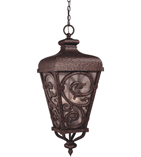 Savoy House Spaniard 3 Light Outdoor Hanging Lantern in New Tortoise Shell w/ Gold 5-7148-56