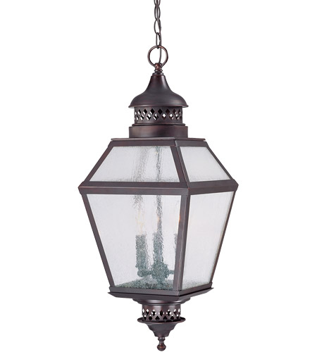 Savoy House Chiminea 3 Light Outdoor Hanging Lantern in English Bronze 5-771-13 photo