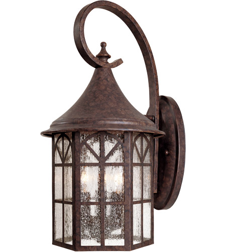 Savoy House Manchester 3 Light Outdoor Wall Lantern in New Tortoise Shell 5-8252-56 photo