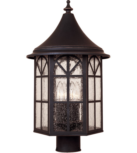 Savoy House Manchester 4 Light Outdoor Post Lantern in Slate 5-8255-25 photo