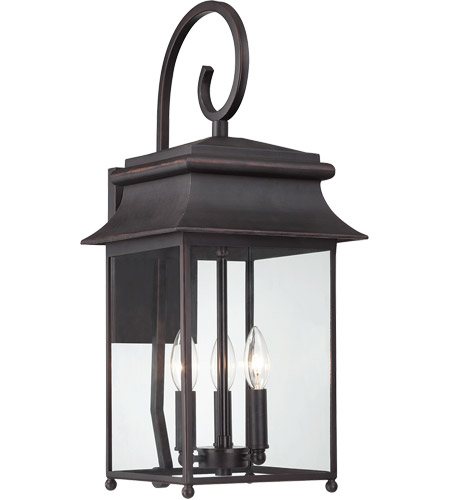 Savoy House 5-9541-25 Durham 3 Light 23 inch Slate Outdoor Wall Lantern, with Scroll photo