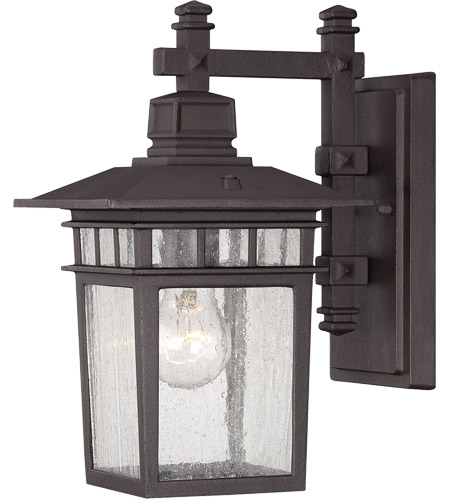 Savoy House Linden 1 Light Outdoor Wall Lantern in Textured Bronze 5-9590-330 photo