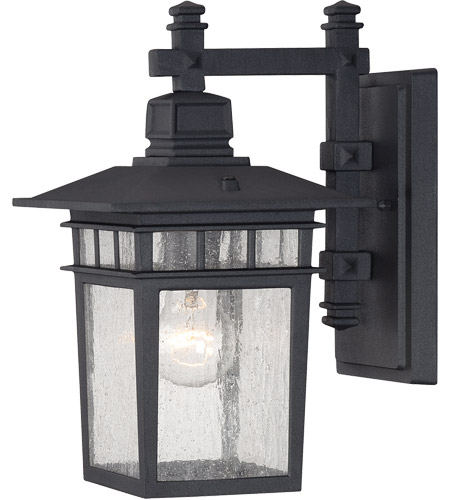 Savoy House Linden 1 Light Outdoor Wall Lantern in Textured Black 5-9590-BK photo