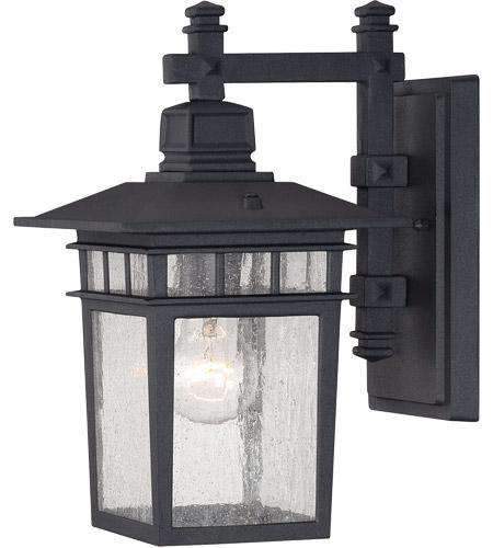 Savoy House Linden 1 Light Outdoor Wall Lantern in Textured Black 5-9590-BK