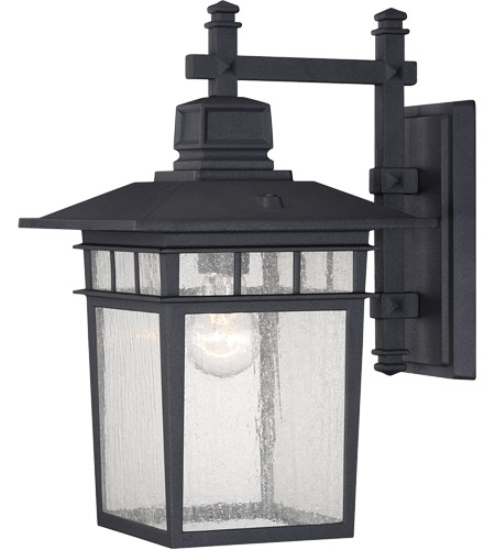 Savoy House Linden 1 Light Outdoor Wall Lantern in Textured Black 5-9591-BK photo