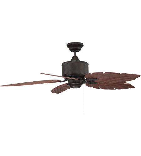 Savoy House 52-083-5RO-13 Portico 10 inch English Bronze with Rosewood Blades Outdoor Ceiling Fan photo