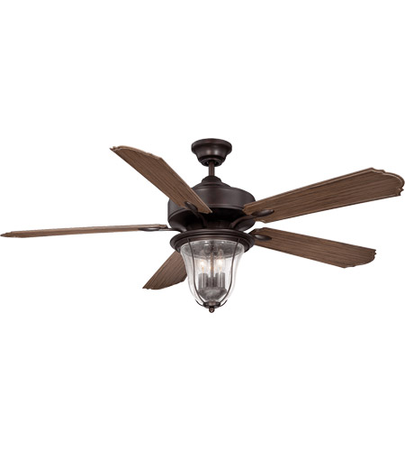 Savoy House 52-135-5WA-13 Trudy 52 inch English Bronze with Walnut Blades Outdoor Ceiling Fan photo