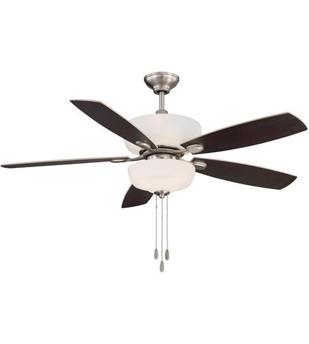 Sheffield 52 Inch Satin Nickel With Chestnut Maple Blades Ceiling Fan