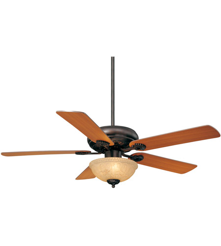 Savoy House 52-411-5RV-13 Charleston 52 inch English Bronze with Walnut/Teak Blades Ceiling Fan in Cream Marble photo