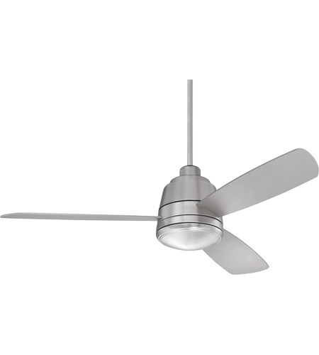 Savoy House 52-417-3SV-SN Polaris 52 inch Satin Nickel with Silver Blades Ceiling Fan photo