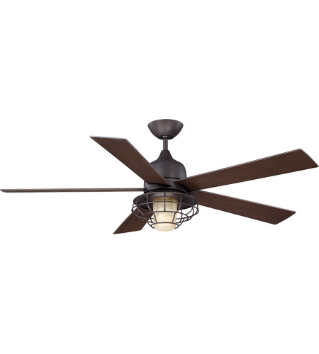 Savoy House 52in Hyannis Damp Location Ceiling Fan in English Bronze 52-624-5CN-13