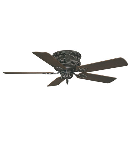 Savoy House Salon & Hugger The Gossamer Hugger 52in Indoor Ceiling ...:Savoy House Salon & Hugger The Gossamer Hugger 52in Indoor Ceiling Fan in  Ebony 52-705H-MO-7,Lighting