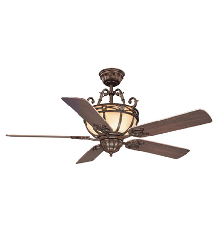 Savoy House Tuscan Iron The Grenada 52in Indoor Ceiling Fan in ...