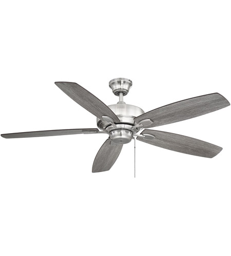 Savoy House Wind Star Ceiling Fan in Brushed Pewter 52-830-5RV-187
