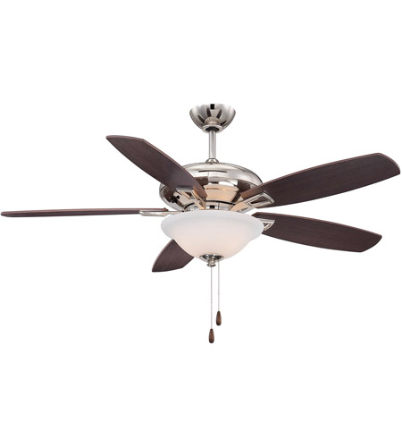 Savoy House Mystique 3 Light 52 Inch Ceiling Fan in Polished Nickel 52-831-5RV-109 photo