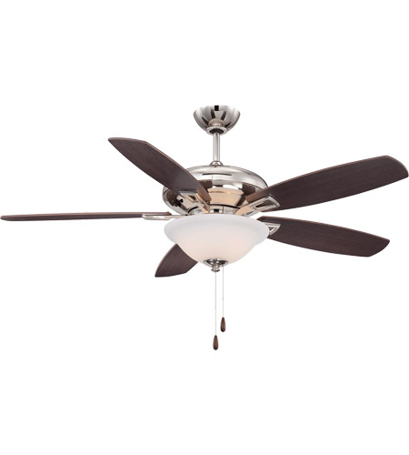 Polished Nickel Plywood Indoor Ceiling Fans