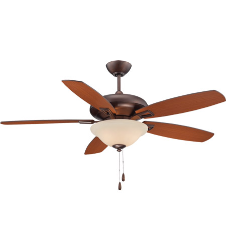 Savoy House 52-831-5RV-35 Mystique 52 inch Byzantine Bronze Teak/Walnut Ceiling Fan photo