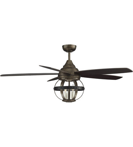 Savoy House Alsace 3 Light Ceiling Fan in Reclaimed Wood 52-840-5CN-196